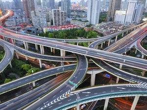 elevated roads in shanghai 156280050