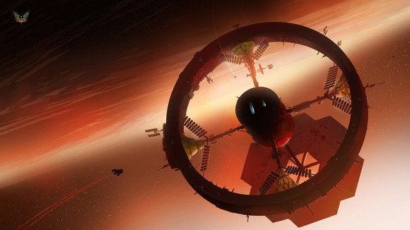 elite dangerous space station render