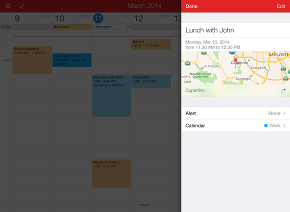 fantastical 2 for ipad event details