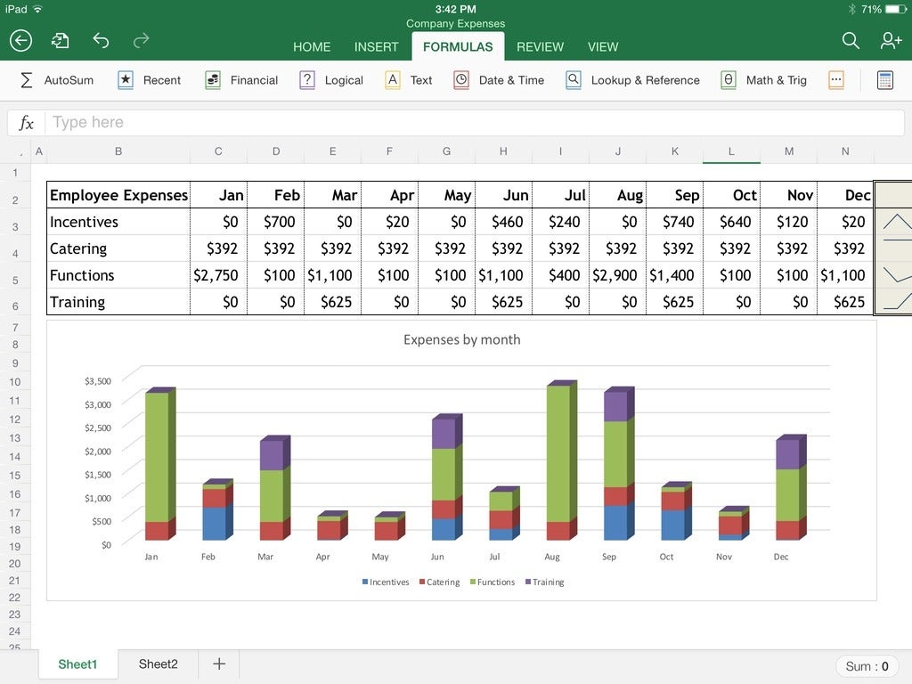 Excel for ipad the macworld review macworld excel for ipads interface takes up relatively minimal screen room and is easy to work with even with large bumbling fingers buycottarizona