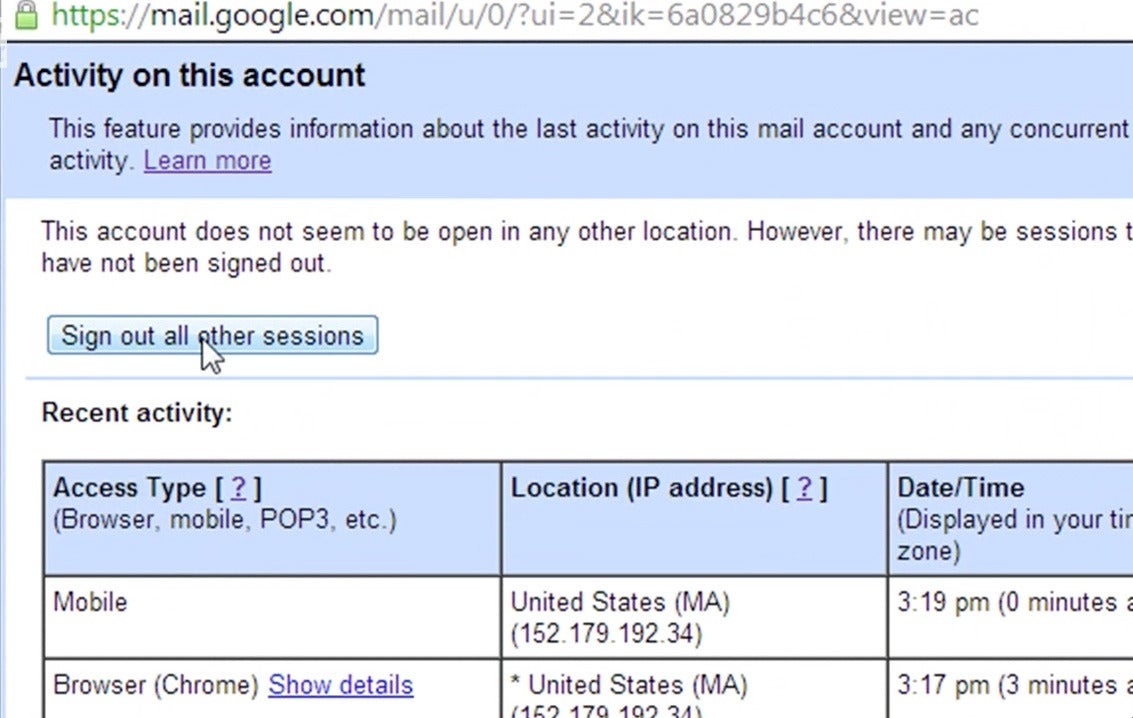 How to remotely log out of Gmail   PCWorld