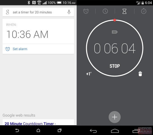 google now timer2