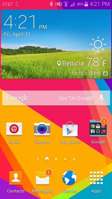 gs5 homescreen