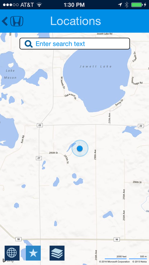 hondalink navigation app screen locations april 2014