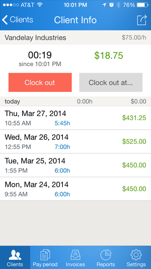 Hours Keeper Pro for iPhone