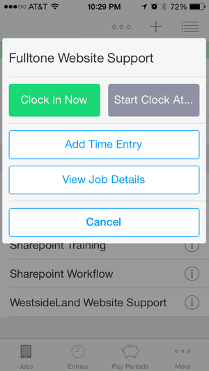 HoursTracker for iPhone