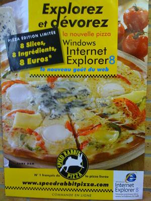 internet explorer 8 pizza ad