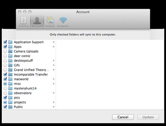 macbook cloud selective sync