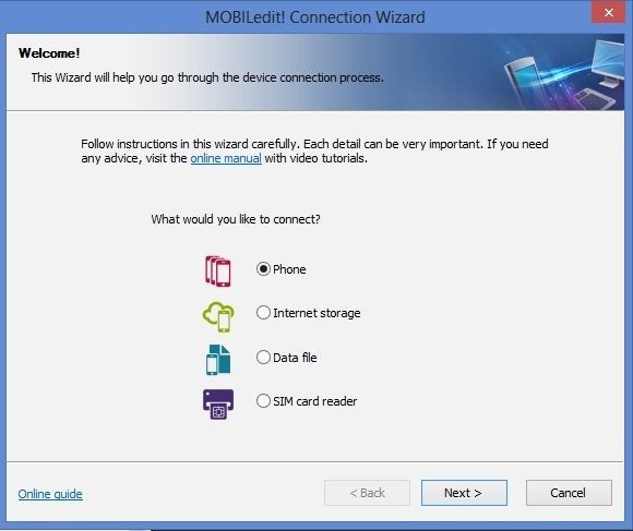 mobiledit connection