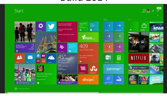 ms build 2014 windows 8.1 update start screen