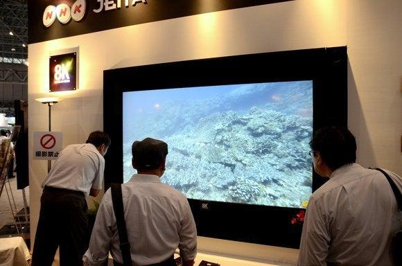 NHK's 8K display at NAB 2014