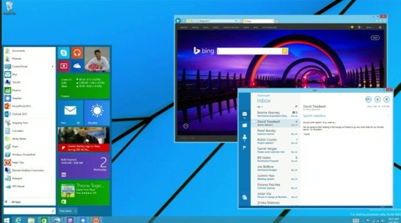 new Windows start menu