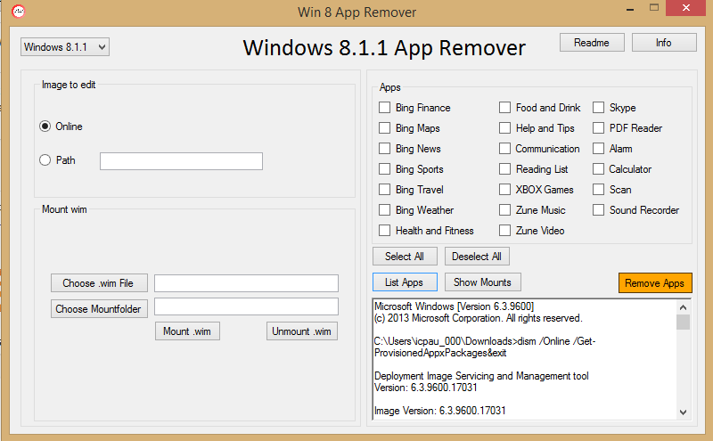 Uninstall preloaded Windows 8 apps in bulk with this program