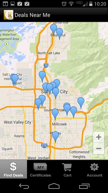 restaurant.com map