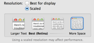 scaled resolution