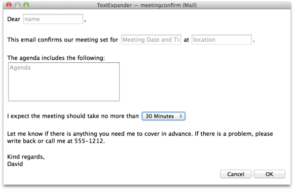 Textexpander Meeting Template  Meeting Scheduler Template