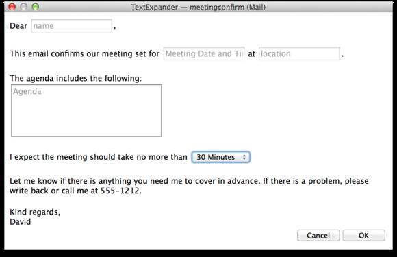 textexpander meeting template