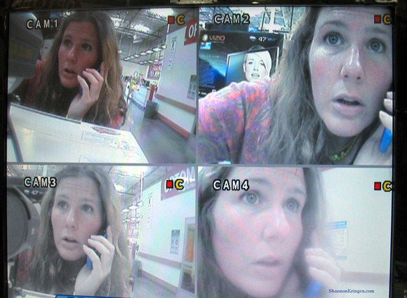 security cam selfie