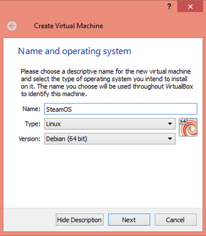 steamos set up virtualbox