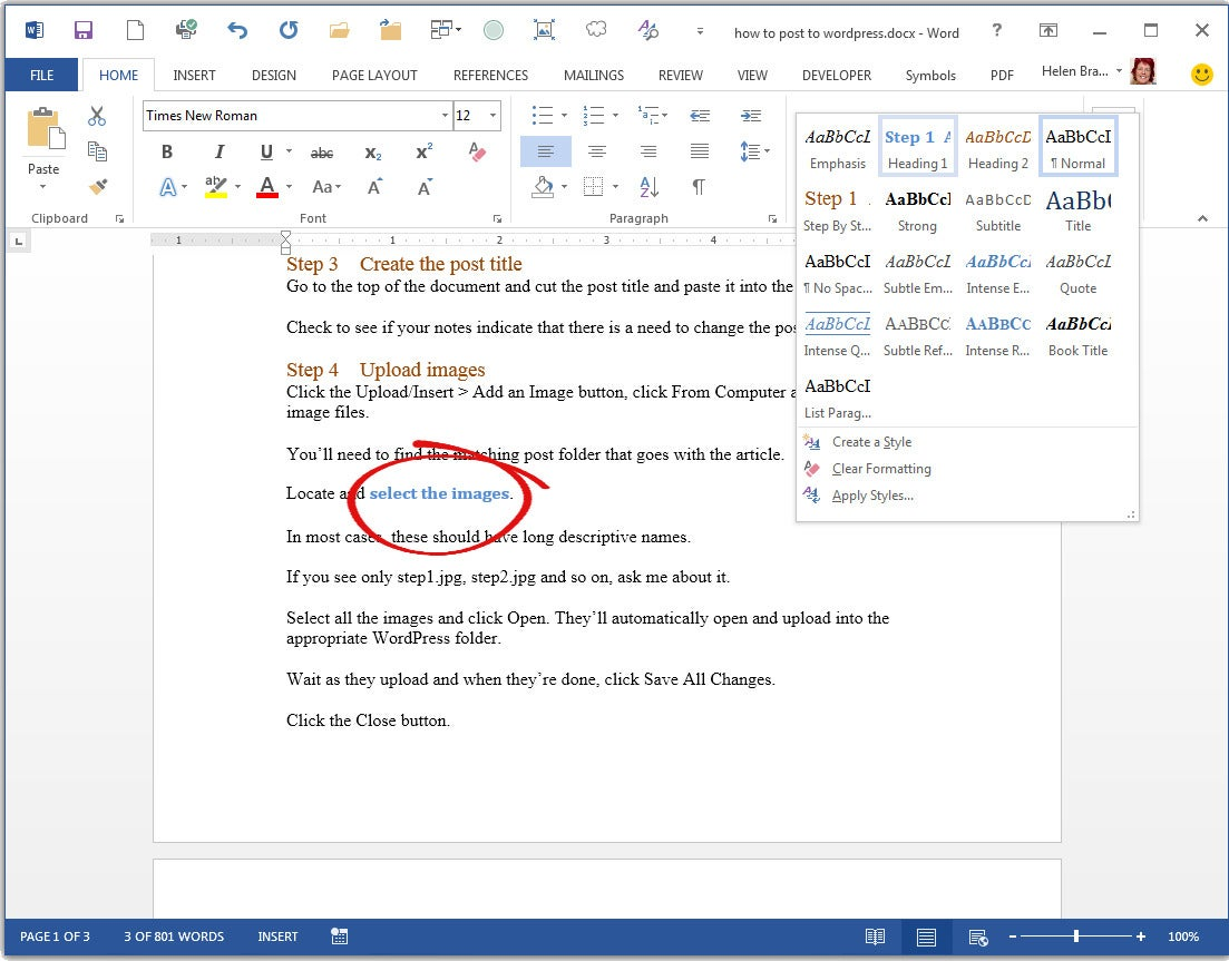 how to create paragraphs properly in word