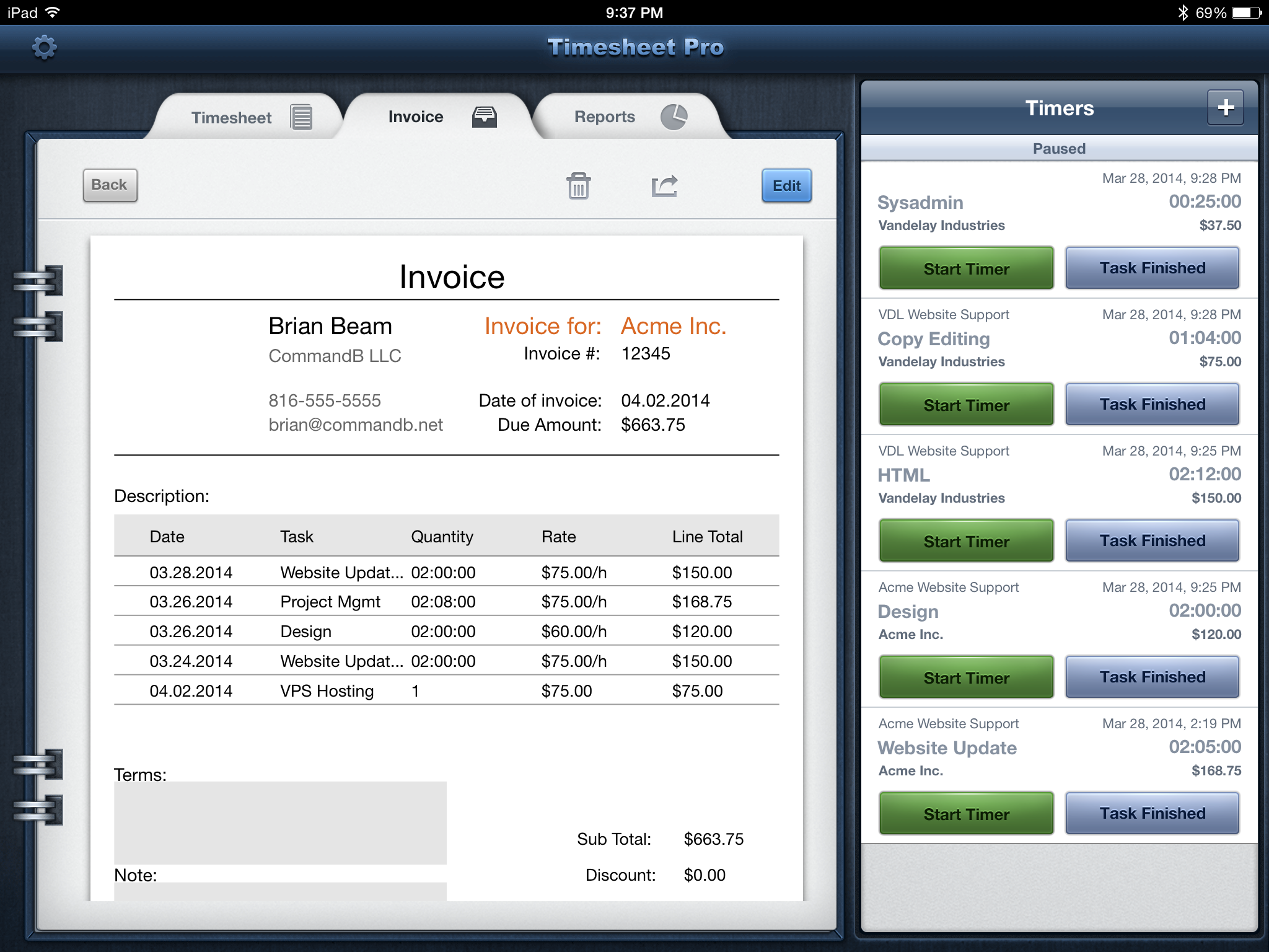 Send Professional Invoices For FreeInvoice By Wave Express Invoice - Ios invoice app
