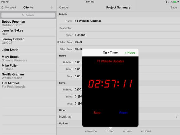 TimeWerks iPad