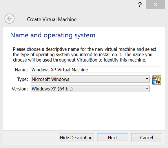 virtualbox setup 1