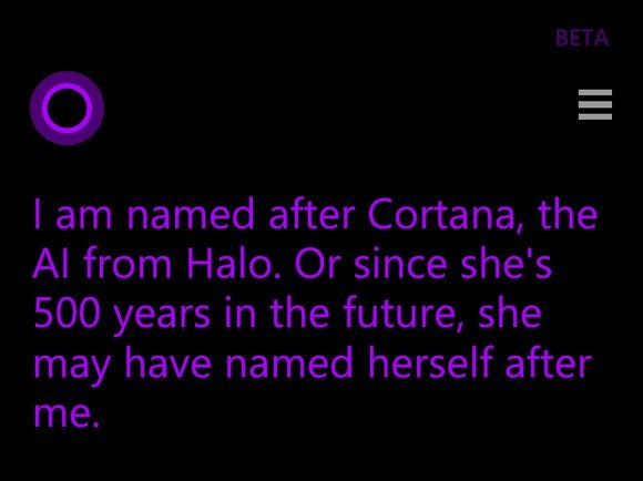what does cortana mean