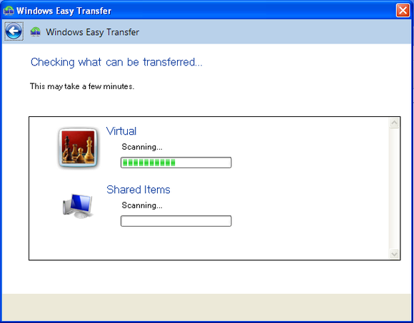 windows easy transfer on xp 2
