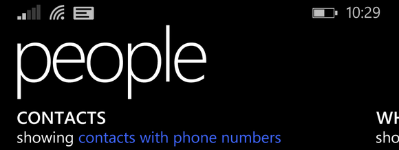 windows phone 8.1 people hub annoynace