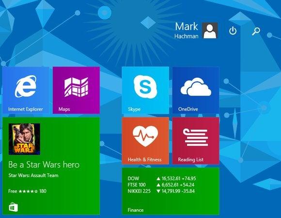 windows spring update start page