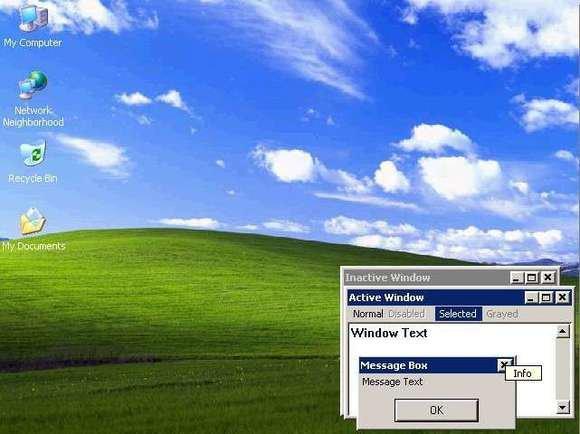 تصویر دسک تاپ ویندوز XP