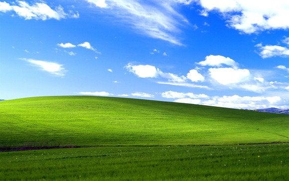 windows xp bliss start screen