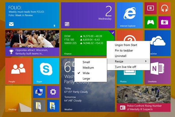 windows8.1 right click