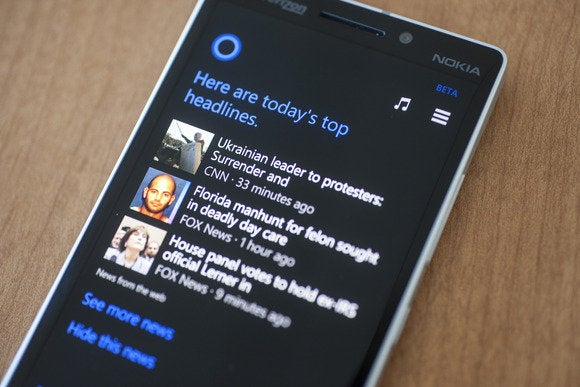 windows phone 81 cortana nokia lumia icon todays headline tilted april 2014