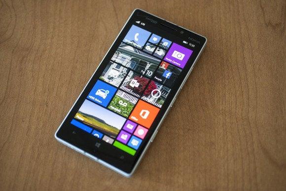 windows phone 81 nokia lumia icon main screen  tilted view april 2014