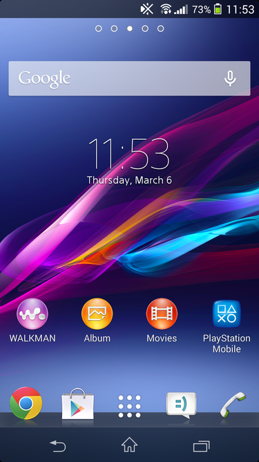 xperiaz1s homescreen