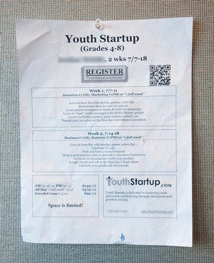 youth startup flier