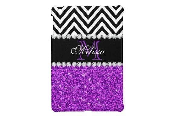 zazzle purpleglitter ipad