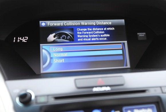 2014 acura rlx forward collision warning