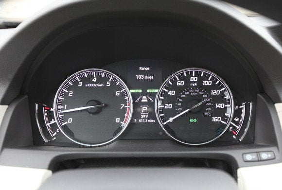 2014 acura rlx instrument cluster