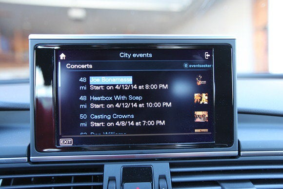 2014 audi a7 tdi display city events details