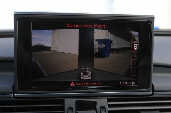 2014 audi a7 tdi display corner view