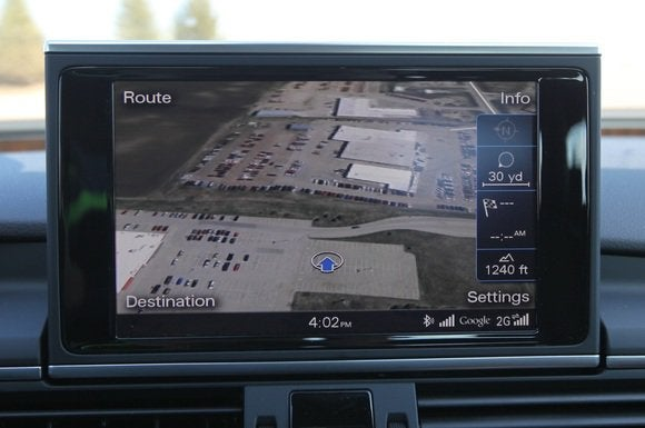 2014 audi a7 tdi display google earth