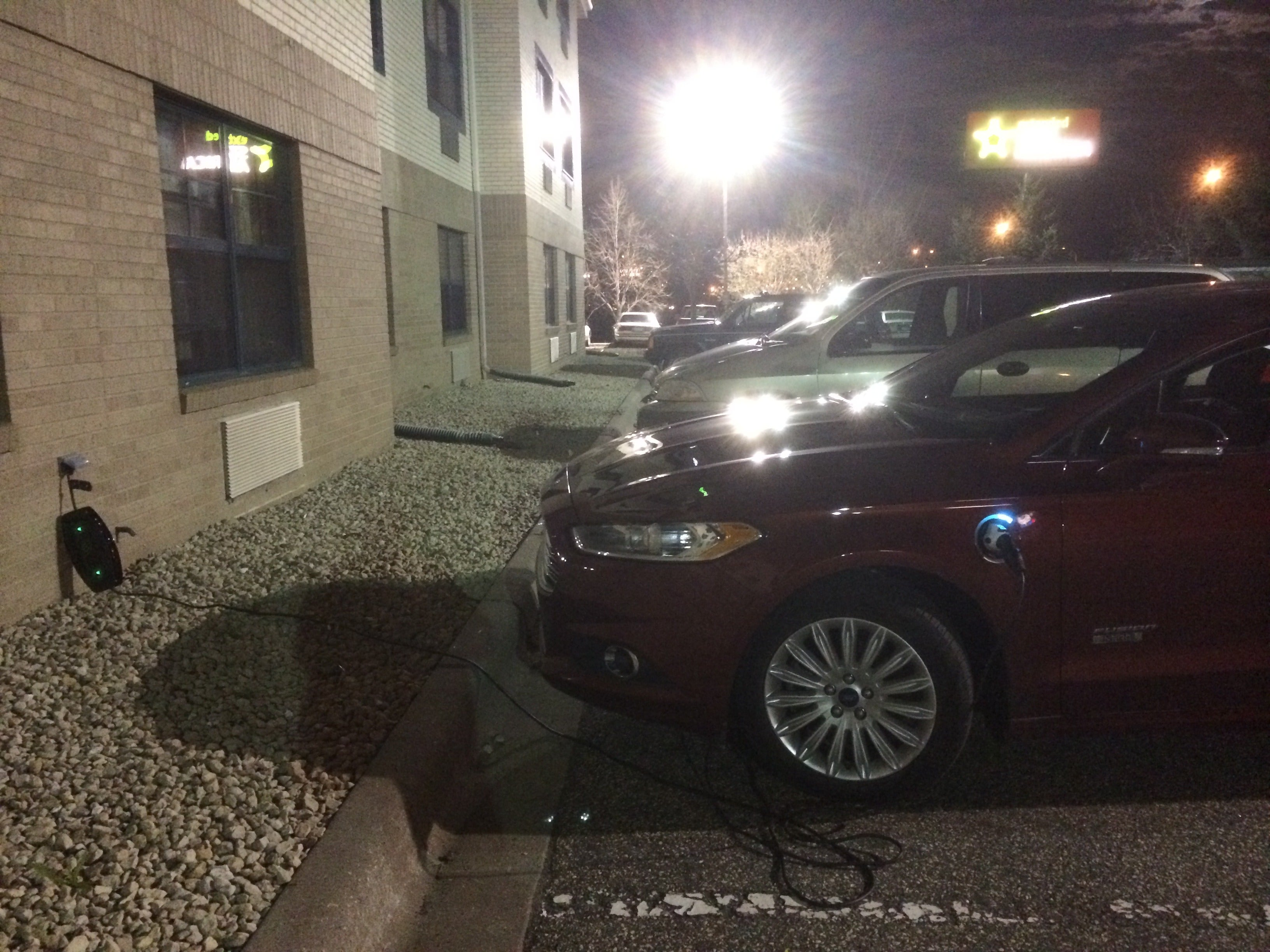This Is Your Car On An Iphone App Driven Road Trip In The 2014 Ford Fusion Se Fordfusion Energi Plug Night Hotel