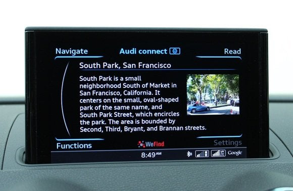 2015 audi a3 audi connect  poi navigation