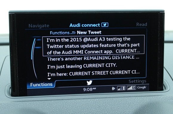 2015 audi a3 audi connect  twitter post
