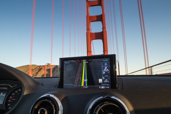 2015 audi a3 mmi display golden gate bridge