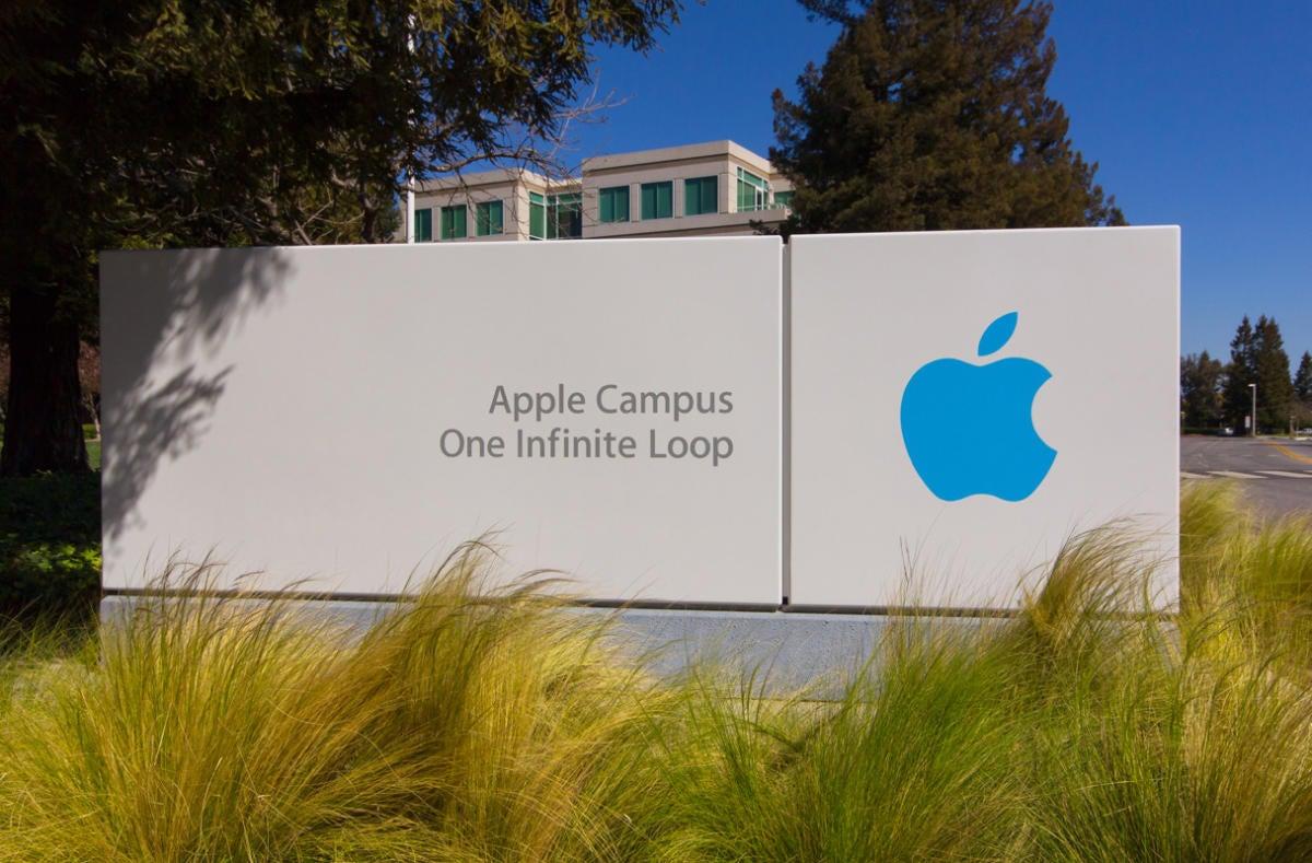 apple campus sign