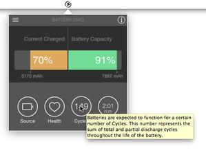 Battery Diag display